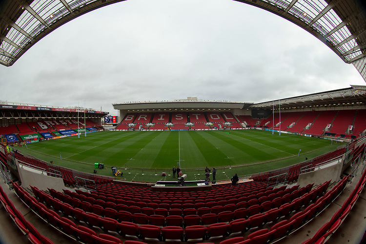 A general view of Ashton Gate, home of Bristol Bears<br /> <br /> Photographer Bob Bradford/CameraSport<br /> <br /> Gallagher Premiership - Bristol Bears v Leicester Tigers - Saturday 1st December 2018 - Ashton Gate - Bristol<br /> <br /> World Copyright &copy; 2018 CameraSport. All rights reserved. 43 Linden Ave. Countesthorpe. Leicester. England. LE8 5PG - Tel: +44 (0) 116 277 4147 - admin@camerasport.com - www.camerasport.com