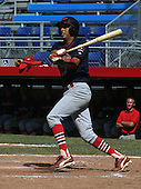 July 13, 2003:  Kevin Estrada of the New Jersey Cardinals during a game at Russell Diethrick Park in Jamestown, New York.  Photo by:  Mike Janes/Four Seam Images