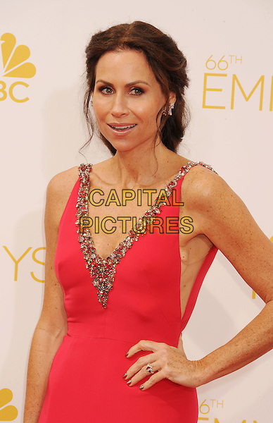 LOS ANGELES, CA- AUGUST 25: Actress Minnie Driver arrives at the 66th Annual Primetime Emmy Awards at Nokia Theatre L.A. Live on August 25, 2014 in Los Angeles, California.<br /> CAP/ROT/TM<br /> &copy;Tony Michaels/Roth Stock/Capital Pictures