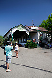 USA, California, Healdsburg, outside of Dry Creek General Store and Bar in Alexander Valley
