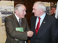 14/5/2006.(L TO R) fomer Taoiseach Albert Reynolds & An Taoiseach Bertie Ahern TD  at the80th Anniversary of Fianna Fáil 1926-2006 at The Mansion House, Dublin..Photo: Collins
