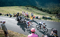 Egan Bernal (COL/Ineos Grenadiers) & Romain Sicard (FRA/Total - Direct Energie) up the Puy Mary (uphill finish)<br /> <br /> Stage 13 from Châtel-Guyon to Pas de Peyrol (Le Puy Mary) (192km)<br /> <br /> 107th Tour de France 2020 (2.UWT)<br /> (the 'postponed edition' held in september)<br /> <br /> ©kramon