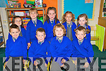 Liselton National School: Junior infants from Liselton pictured on their fitrst day at school. Front : Luke Stack, Adam Omahony, Kean O'Keeffe & James Prendergast. Back : Ella Marie Pierce, Nadine Allen, Grace Whelan, Laura Moriarity & Mirissa Loftus.