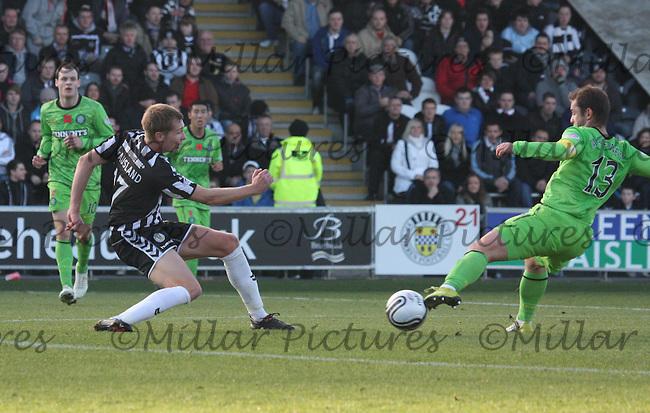 Marc McAusland challenging Shaun Maloney