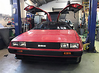 BNPS.co.uk (01202 558833)<br /> Pic: Castleman/BNPS<br /> <br /> The donor car was brought in from California with red paint over the traditional stainless steel finish.