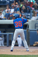 Nelson Velazquez (36) of the South Bend Cubs at bat against the West Michigan Whitecaps at Fifth Third Ballpark on June 10, 2018 in Comstock Park, Michigan. The Cubs defeated the Whitecaps 5-4.  (Brian Westerholt/Four Seam Images)