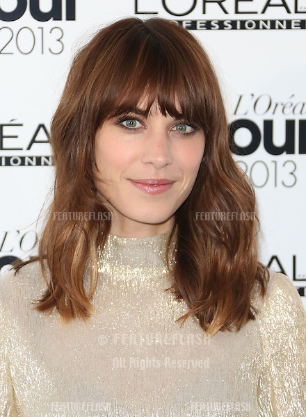 Alexa Chung at The L'Oreal Colour Trophy grand final 2013 held at the Grosvenor House hotel, London. 03/02/2013 Henry Harris / Featureflash