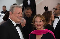 Former US Vice President Al Gore &amp; Segolene Royal at the premiere for &quot;The Killing of a Sacred Deer&quot; at the 70th Festival de Cannes, Cannes, France. 22 May 2017<br /> Picture: Paul Smith/Featureflash/SilverHub 0208 004 5359 sales@silverhubmedia.com