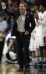 Gonzaga's Head Coach Mark Few sends in a play during their game against North Dakota State during the 2015 NCAA Division I Men's Basketball Championship's March 20, 2015 at the Key Arena in Seattle, Washington.     ©2015. Jim Bryant Photo. ALL RIGHTS RESERVED.
