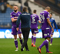 Bolton Wanderers&rsquo; Aaron Wilbraham, left, shakes hands with Bolton Wanderers manager Phil Parkinson at the end of the game<br /> <br /> Photographer Chris Vaughan/CameraSport<br /> <br /> The EFL Sky Bet Championship - Sheffield Wednesday v Bolton Wanderers - Saturday 10th March 2018 - Hillsborough - Sheffield<br /> <br /> World Copyright &copy; 2018 CameraSport. All rights reserved. 43 Linden Ave. Countesthorpe. Leicester. England. LE8 5PG - Tel: +44 (0) 116 277 4147 - admin@camerasport.com - www.camerasport.com