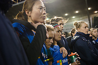 Seattle, WA - April 15th, 2017: Jess Fishlock following a regular season National Women's Soccer League (NWSL) match between the Seattle Reign FC and Sky Blue FC at Memorial Stadium.