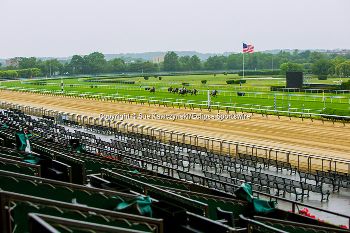 JUNE 03, 2020 : Opening day, minus spectators,  at Belmont Park, Elmont, NY.  Sue Kawczynski/Eclipse Sportswire/CSM