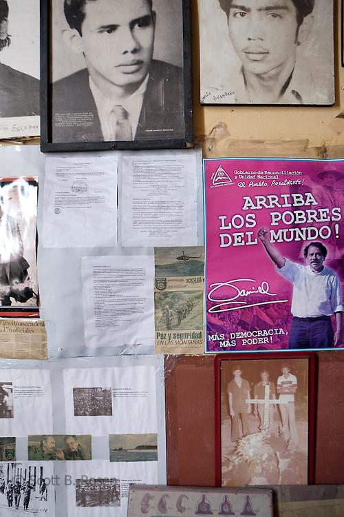 Sandinista (FSLN) history on display inside the Museum of the Revolution, Leon, Nicaragua