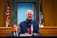 United States Senator Jerry Moran (Republican of Kansas) speaks during a United States Senate Committee on Veteran's Affairs hearing on Capitol Hill in Washington D.C., U.S., on Wednesday, June 3, 2020.  Credit: Stefani Reynolds / CNP/AdMedia