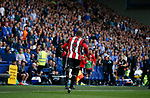 Leon Clarke of Sheffield Utd runs towards the bench to celebrate during the Championship match at the Hillsborough Stadium, Sheffield. Picture date 24th September 2017. Picture credit should read: Simon Bellis/Sportimage