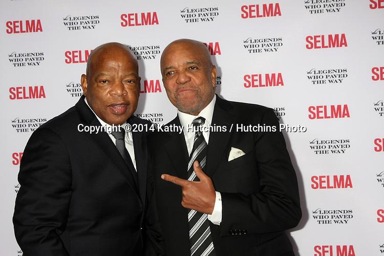 "SANTA BARBARA - DEC 6:  John Lewis, Berry Gordy at the ""Selma"" & Legends Who Paved the Way Gala at the Bacara Resort & Spa on December 6, 2014 in Goleta, CA"