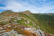 Mount Monroe with Mount Washington in the background from the Appalachian Trail (Crawford Path) in Sargent's Purchase, New Hampshire during the last days of summer.