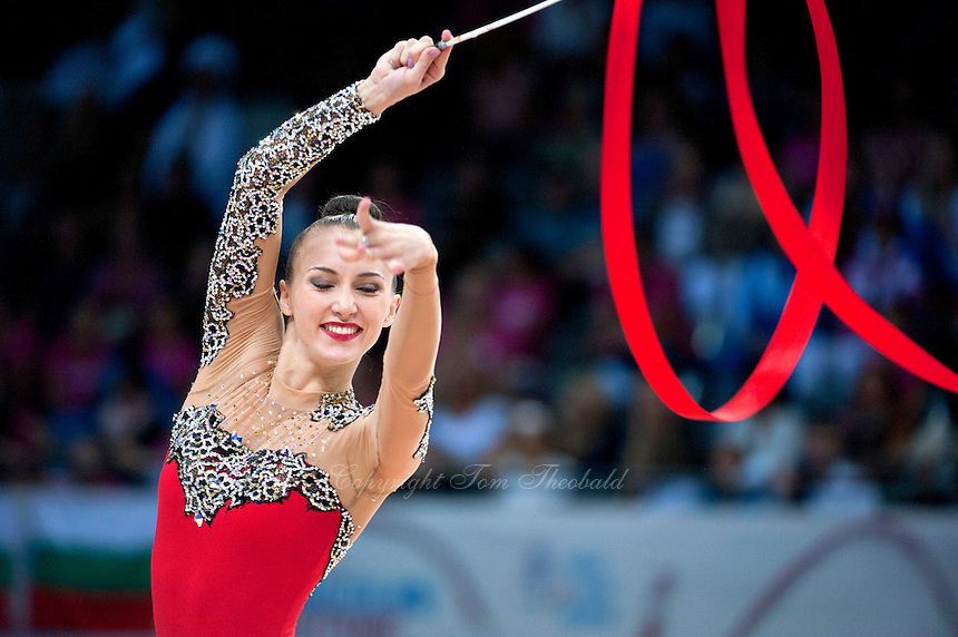 September 11, 2015 - Stuttgart, Germany - ANNA RIZATDINOVA of Ukraine performs during AA final at 2015 World Championships.