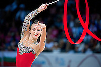 September 11, 2015 - Stuttgart, Germany - ANNA RIZATDINOVA of Ukraine performs during AA final at 2015 World Championships.