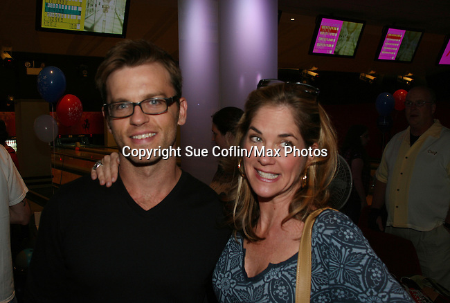 One Life To Live's Trevor St. John & Kassie DePaiva at the 2009 Daytime Stars and Strikes to benefit the American Cancer Society to benefit the American Cancer Society on October 11, 2009 at the Port Authority Leisure Lanes, New York City, New York. (Photo by Sue Coflin/Max Photos)