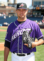 Akron Aeros Edward Mujica poses for a photo before an Eastern League game at Canal Park on April 15, 2006 in Akron, Ohio.  (Mike Janes/Four Seam Images)