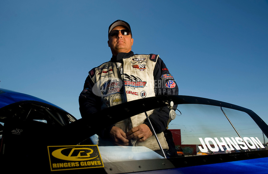 Sept. 5, 2010; Clermont, IN, USA; NHRA pro stock driver Kurt Johnson during qualifying for the U.S. Nationals at O'Reilly Raceway Park at Indianapolis. Mandatory Credit: Mark J. Rebilas-
