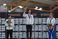 SPEEDSKATING: HAMAR: Vikingskipet, 29-02-2020, ISU World Speed Skating Championships, Sprint, Final Podium, Nao Kodaira (JPN), Miho Takagi (JPN), Olga Fatkulina (RUS), ©photo Martin de Jong