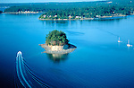 Cutts Island Marine State Park, WA <br /> Aerial view of Cutts Island (5.5 acres) in the Carr Inlet of South Puget Sound