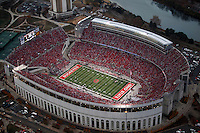 Aerial of Ohio Stadium, November 13, 2010. Ohio State was playing Penn State in a 3:30pm game. Aerial was taken as the second half was about to begin. Dispatch photo by Karl Kuntz as seen from WBNS-10TV Chopper 10