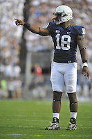 15 September 2012:  Penn State DE Deion Barnes (18)..The Penn State Nittany Lions defeated the Navy Midshipmen 34-7 at Beaver Stadium in State College, PA.