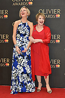 Marianne Elliott, Patti Lupone<br /> The Olivier Awards 2018 , arrivals at The Royal Albert Hall, London, UK -on April 08, 2018.<br /> CAP/PL<br /> &copy;Phil Loftus/Capital Pictures