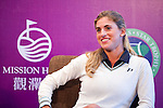 HAIKOU, CHINA - OCTOBER 28:  Spanish golfer Belen Mozo attends a press conference during the Mission Hills Star Trophy on October 28, 2010 in Haikou, China. The Mission Hills Star Trophy is Asia's leading leisure liflestyle event and features Hollywood celebrities and international golf stars. Photo by Victor Fraile / The Power of Sport Images