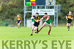 Dan Moynihan Kilcummin tackles David Naughton Dr Crokes during their O'Donoghue cup SF in Lewis Rd on Saturday