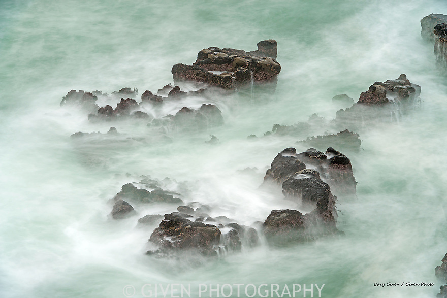 Surf and rocks on the Oregon coast