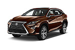 2018 Lexus RX 350 5 Door SUV Angular Front stock photos of front three quarter view