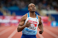 2nd placed James DASAOLU in the 100m during the Muller Grand Prix Birmingham Athletics at Alexandra Stadium, Birmingham, England on 20 August 2017. Photo by Andy Rowland.