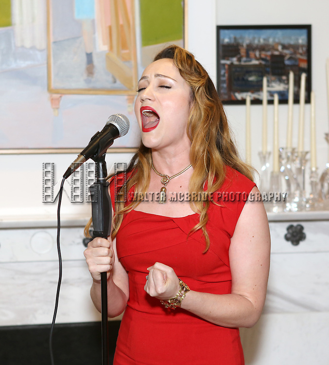 Eden Espinosa performs at 'Parlor Night' A benefit evening for The Broadway Inspirational Voices Outreach Program at the home of Roy and Jenny Neiderhoffer on June 22, 2015 in New York City.
