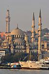 Istanbul, Turkey, Yeni Camii Mosque, Ottoman Architecture, Passenger Ferries, Eminonu ferry dock, Golden Horn, Bosphorus Strait,