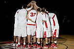 MADISON, WI - NOVEMBER 8: The Wisconsin Badgers huddle prior to the game against the Carroll College Pioneers at the Kohl Center on November 8, 2006 in Madison, Wisconsin. The Badgers beat the Pioneers 81-61. (Photo by David Stluka)
