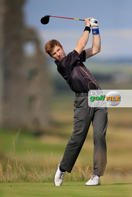 Gavin Smyth (Clonmel) on the 13th tee during the South of Ireland Amateur Open Championship Second Round at Lahinch Golf Club  28th July 2013 <br /> Picture:  Thos Caffrey / www.golffile.ie