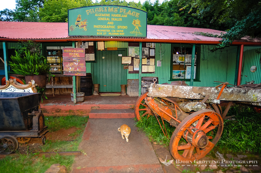 General Store. Pilgrim's Rest, an old Gold mining town in South Africa declared a national monument.