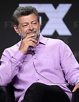 """BEVERLY HILLS - AUGUST 6: Cast Member Andy Serkis onstage during the """"A Christmas Carol"""" panel at the FX Networks portion of the Summer 2019 TCA Press Tour at the Beverly Hilton on August 6, 2019 in Los Angeles, California. (Photo by Frank Micelotta/FX Networks/PictureGroup)"""