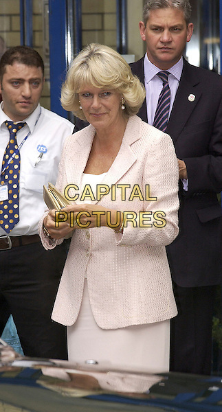 CAMILLA, DUCHESS OF CORNWALL .Visiting St.Mary's Hospital in Paddington, London,.July 8th 2005..half length royal.Ref: DH.www.capitalpictures.com.sales@capitalpictures.com.©David Hitchens/Capital Pictures.