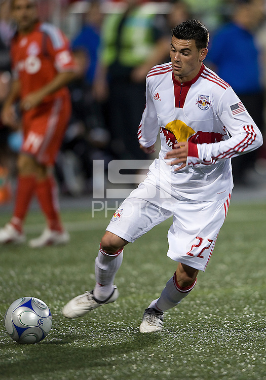 13 June2009: New York Red Bulls midfielder Nick Zimmerman #22 in action during MLS action at BMO Field in Toronto, in a game between the New York Red Bulls and Toronto FC. Toronto FC won 2-1..