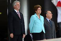 BRASÍLIA, DF, 21.05.2015 – VÁZQUEZ-DF – O presidente do Uruguai Tabará Vázquez durante visita à presidente Dilma Rousseff na manhã desta quinta-feira, 21, no Palácio do Planalto em Brasília. (Foto: Ricardo Botelho / Brazil Photo Press)