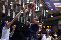 DURHAM, NC - JANUARY 16: Mikayla Vaughn #30 of Notre Dame University shoots a layup during a game between Notre Dame and Duke at Cameron Indoor Stadium on January 16, 2020 in Durham, North Carolina.
