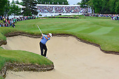 Miguel Angel JIMENEZ (ESP) on the 18th during the final round of the 2015 BMW PGA Championship over the West Course at Wentworth, Virgina Water, London. 24/05/2015<br /> Picture Fran Caffrey, www.golffile.ie