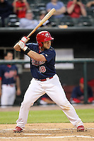 Memphis Redbirds catcher Tony Cruz #18 at bat during a game versus the Round Rock Express at Autozone Park on April 28, 2011 in Memphis, Tennessee.  Memphis defeated Round Rock by the score of 6-5 in ten innings.  Photo By Mike Janes/Four Seam Images