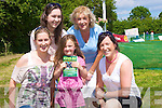 FUN: having great fun at the Castleisland races on satutrday on Geaneys Land, Castleisland, were, Rache,Tina,martina and margo O'Sullivan and centre Chantellie Broderick (Castleisland)....................................... ....