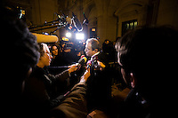 Patrick Maisonneuve, lawyer of International Monetary Fund (IMF) Managing Director Christine Lagarde, talks to journalists at the start of Lagarde's trial about a state payout in 2008 to a French businessman, at the courts in Paris, France, December 12, 2016. # PATRICK MAISONNEUVE, L'AVOCAT DE CHRISTINE LAGARDE DANS LE CADRE DE L'AFFAIRE TAPIE